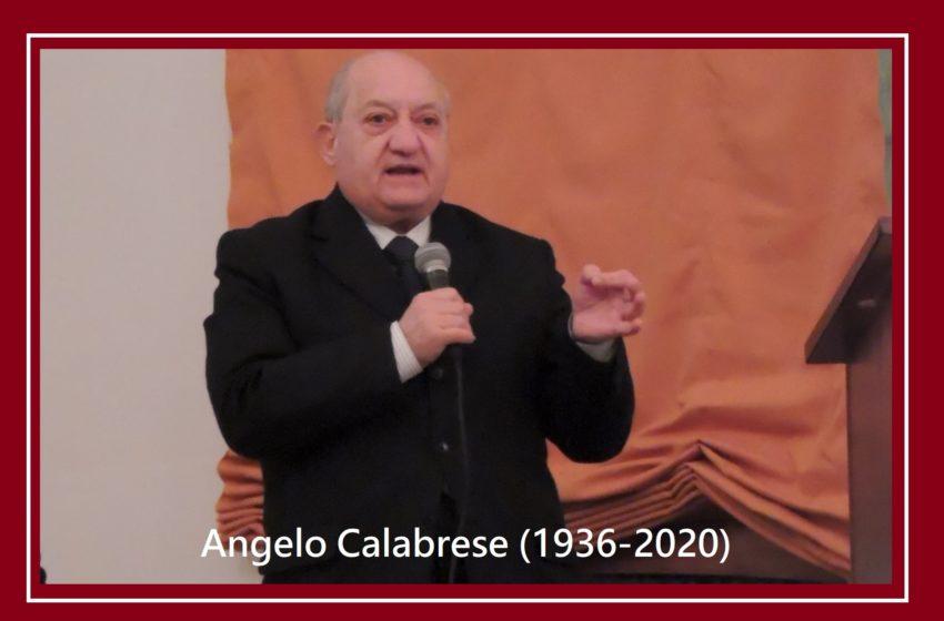 """Si eleva all'eternità il Prof. Angelo Calabrese: """"Una danza che distrugge per ricreare"""""""