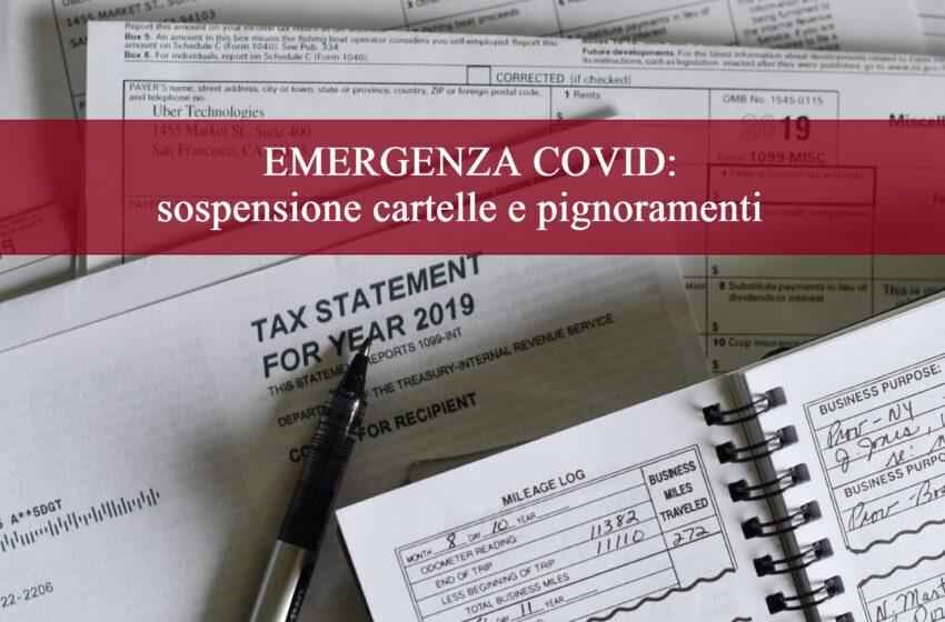 EMERGENZA COVID: sospensione cartelle Agenzia delle Entrate e Pignoramento